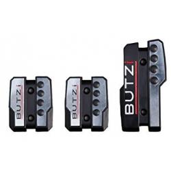 BUTZI Pedaalset Dark - Aluminium/Zwart (Manueel)