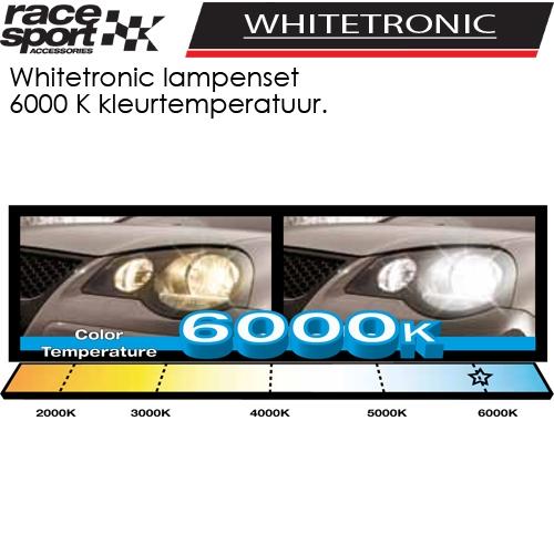 Auto lampen set whitetronic h4 6000k kopen bij dolf van for Lampen 6000 kelvin